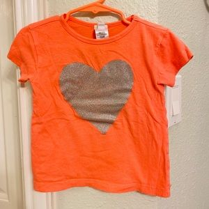 Crewcuts toddler's t- shirt with sparkling heart